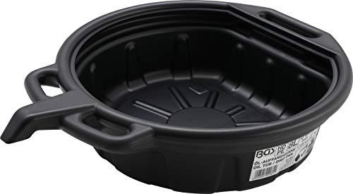 BGS 9981 | Öl-Auffangwanne mit Ausgießer | 8 l | Durchmesser: 400 mm | Höhe: 125 mm | Material: HDPE | schlagfest