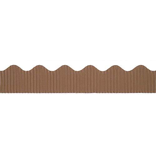 """Bordette Scalloped Decorative Border P37024, 2-1/4"""" x 50', Brown, 1 Roll"""