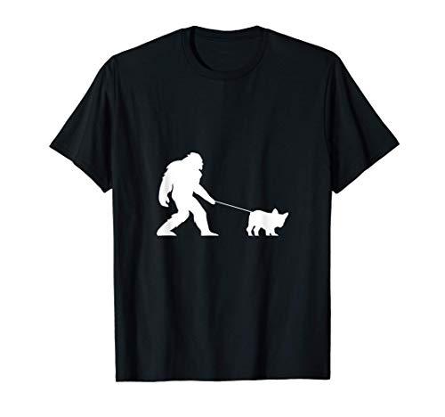 Sasquatch Bigfoot Walking French Bulldog T-Shirt