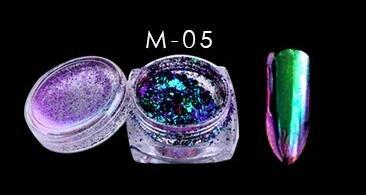 Super Shiny Best Quality Chameleon Mirror Nail Glitter Powder Pigment Flakes Chrome Pigment Unicorn Powder 1 BOX Green