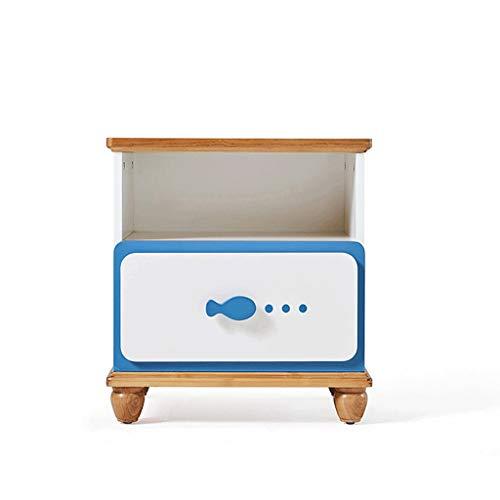 QIFFIY Mesita de noche de madera, mesilla de noche, moderna, minimalista, muebles de mesita de noche...