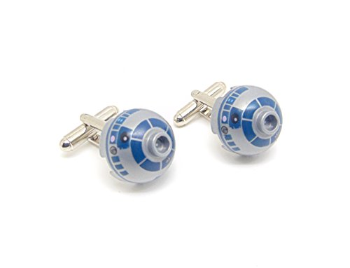 Jeff Jeffers Ensemble de boutons de manchette R2D2 en Lego authentiques, Star Wars