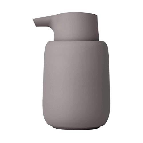 blomus Sono Dispenser di Sapone Liquido, Ceramica, plastica, Silicone, Satellite, H 14 cm, T 9,5 cm, Ø 8,5, V 0,25 l