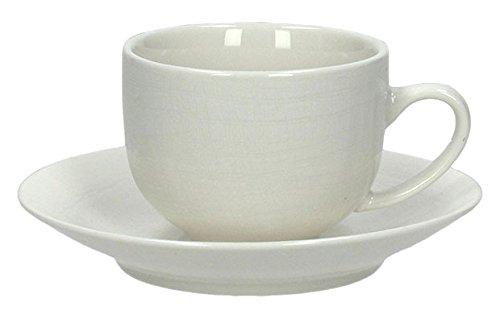 Tognana Victoria VC085010000, Confezione 6 Tazze Caffè con Piattino, Porcellana, Bianco, 14x14x6 cm