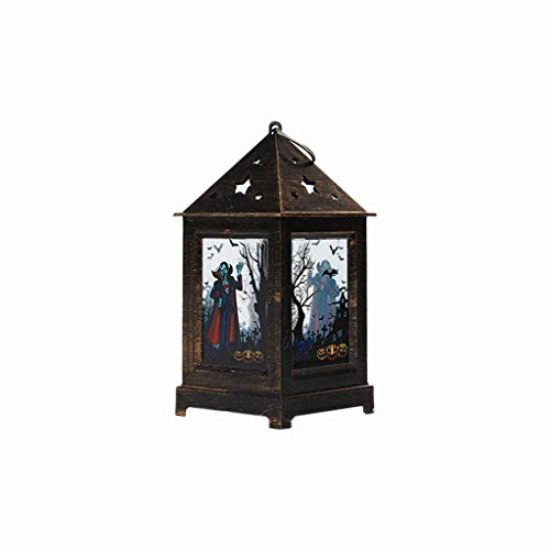 Shan-S Halloween Decoration Skeleton Lighted Ghost Zombies Witchs Wind Lamp Retro Decoration Oil Lamp Carnival LED Lantern Party Home Props