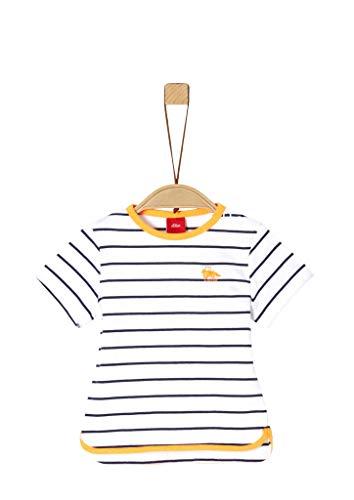 s.Oliver Junior T-Shirt Baby Boys Camiseta, 57g4 Medium Blue Stripe, 74 para Bebés