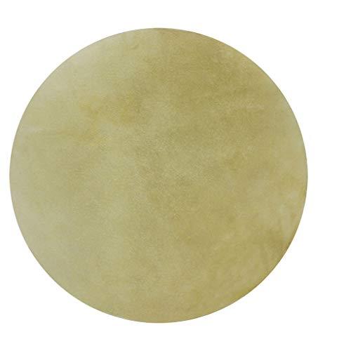 Guangcailun 2 Stück 0,2 cm dünne Djembe Felltrommel Kopfhaut Fell Haut Round Drum-Leder-Haut-Musik-Instrument Zubehör, 42cm