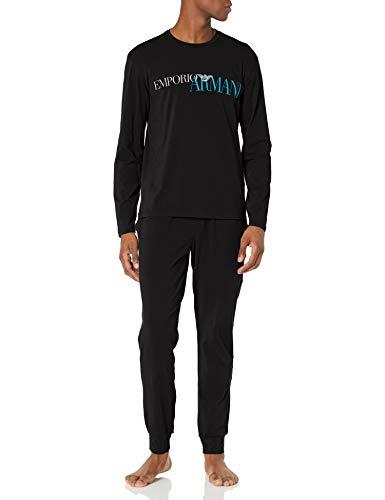 Emporio Armani Herren Pyjamas Pyjama Set, schwarz, Small