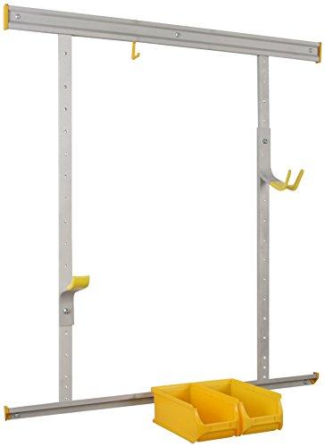 Preisvergleich Produktbild Allit 455213 StorePlus Bike< 30 Fahrradhalter-Set,  Wandhaltesystem,  Silber,  Gelb