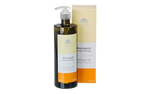 Pino Massageöl Orange Lemongrass 500ml mit Pumpspender