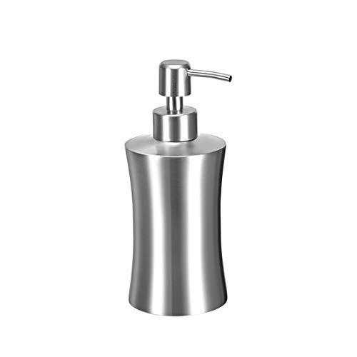 DealMux Seifenspender, 13,5 Unzen / 400 ml Edelstahl Flüssigkeits- und Seifenspender Seifenbehälter Pumpflasche Silberton für DIY-Körperlotionen