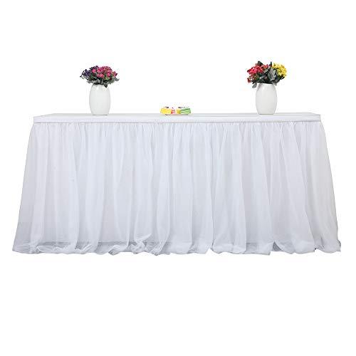 Daiiwwo Tabelle Rock Tuch Weiß, Table Rock Tüll Für Hochzeit, Geburtstag, Baby Shower Party Runde Quadratische Tisch Dekorieren Home Dekoration 183 X 77cm