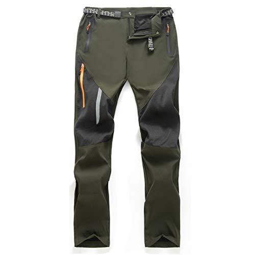 LUI SUI Pantalones para Caminar Transpirables al Aire Libre para Hombre,...