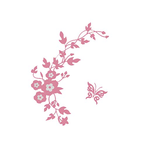 Janly Clearance Sale Flower Toilet Seat Wall Sticker Bathroom Decoration Decals Decor Butterfly Pink , Home Decor for Easter Day (Pink)