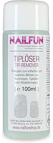 Tiplöser Nail-Loosener Nagel-Ablöser Tip-Remover für Kunstnägel, 1x 100ml
