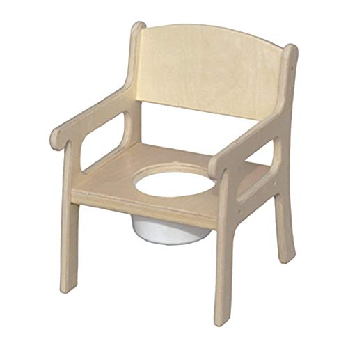 Little Colorado 027UNF Stable Sturdy Comfortable Plywood Potty Training Bathroom Chair Seat for Children with Removable Plastic Chamber, Unfinished