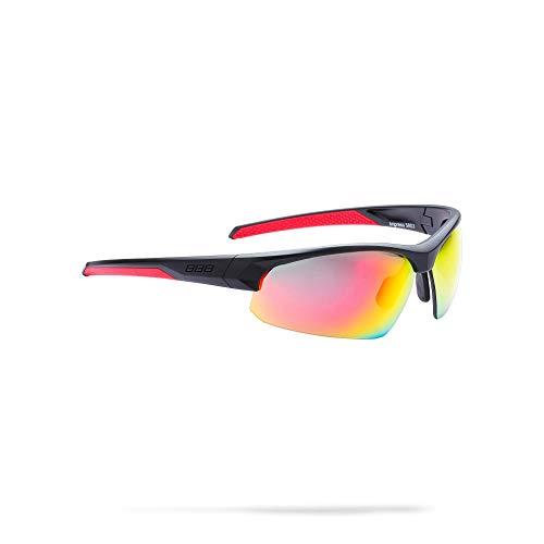 BBB Cycling Fahrradbrille Impresse Herren und Damen Sportbrille Sonnenbrille Radsport mit Wechselgläsern Polycarbonat MTB Rennrad Urban Matt Schwarz M BSG-58