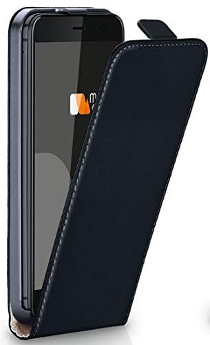moex Flipcase kompatibel mit HTC U11 Life | Klapphülle Handytasche mit R&um Schutz - Handy Hülle Klappbar Flip Hülle, Schwarz
