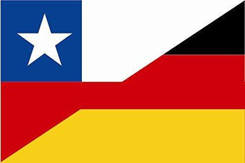 U24 Aufkleber Chile-Deutschland Flagge Fahne 8 x 5 cm Autoaufkleber Sticker