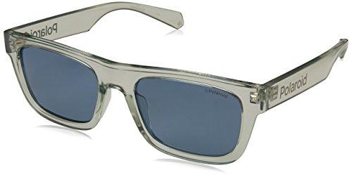 Polaroid 6050/S KB7C3 53,gafa sol unisex,montura rectangular transparente.Lentes en gris.