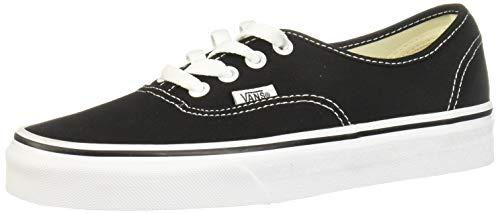 Vans VEE3BLK Unisex Authentic Skate Shoes, Black, 10 M US Men/11.5 M US Women