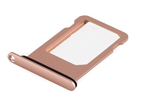 ICONIGON Reemplazo para iPhone 7 SIM Card Tarjetas Soporte con Junta (Oro Rosa)