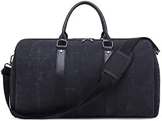 حقيبة حمل قماشية للرجال من Gmddpjfl حقيبة سفر حقيبة لياقة (اللون: أسود)