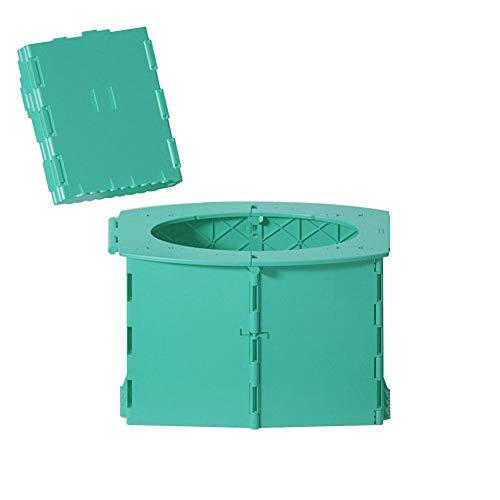 seawe Toilette Portatile, Sedile WC Pieghevole in Plastica Mobile Toilette Comodo, Toilette Ergonomica per Auto Vasino per Campeggio Orinatoio Portatile Lavabile Compatto WC con Sacchetti di Pulizia