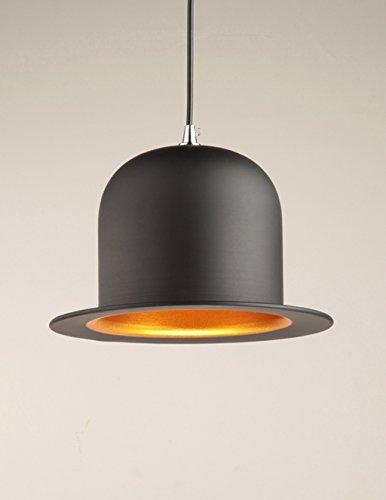 Lamparas de techo Lámpara colgante moderna del arte de aluminio, personalidad de la moda iluminación industrial Sombrero del caballero barra ligera Tienda de ropa Lámpara de ingeniería de la ingenierí