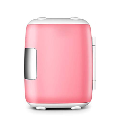 No logo Multifunctionele koelbox Mini Electric koelkast Cooler Warmer - AC/DC Thermo-elektrisch systeem Compact draagbare Quiet vrieskast 8L (roze)