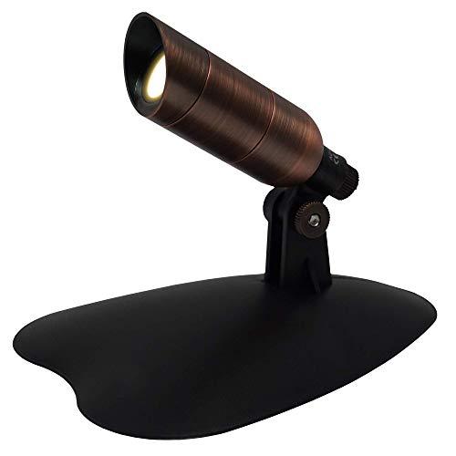 Ignite Landscape Lighting 1-Watt Bronze Mini LED Spotlight Kit with 6-Watt Transformer for Landscape Lighting, Ponds, and Water Features - MSKIT1W-BZ