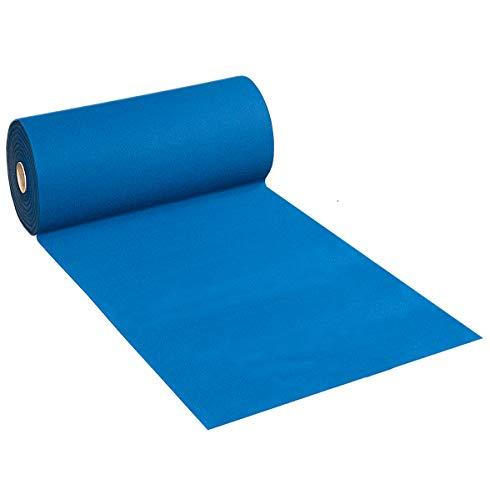 Emmevi moqueta Azul Reverso antideslizante Ancho 100cm Venta Metro lineal alfombra Interior Exterior pasillo aceras Tienda Mod.Matrimonio Azul P