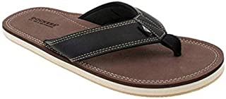 Dockers Men's Flip Flop Sandal ; Classic Comfort Footbed with Two-Tone Upper, Size 8 to 13 (Brown Pebble, Numeric_13)