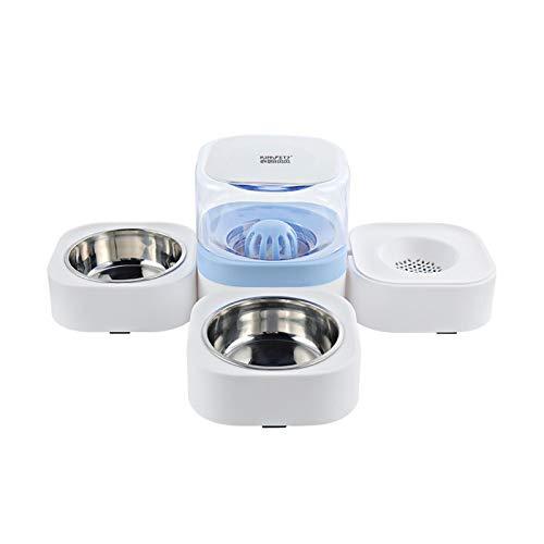 Rayber Dispensador de comida y agua, dispensador automático para gatos, cachorros, conejos, verde, dispensador de alimento: 35,5 x 17,5 x 27 cm