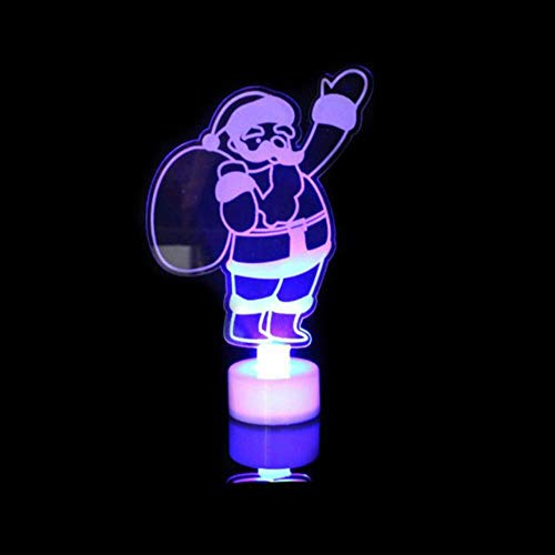 WYCYZJ 3D LED Night Lights Lamp Kids Bedroom Decor Santa Claus/Snowman/Towel/Christmas Tree Flash Light Wedding Party Gifts,Santa Claus