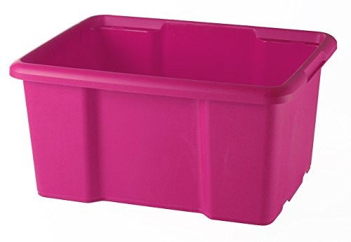Sundis BAC 15 litres Rose Caja 15L Rosa-Apilable y Amontonable-Alta Resistencia