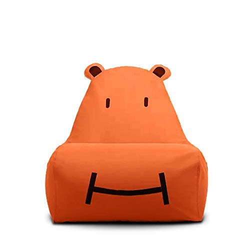 Zitzak voor kinderstoel, Hippo, Lazy Sofa, kinderen, woonkamer, afneembaar, geschikt om te lezen, sofa (kleur: oranje) Oranje