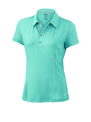 Wilson W Classic Polo, Mujer, Azul, M
