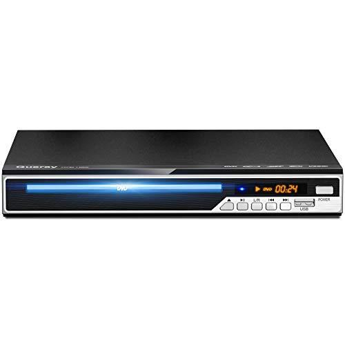 Gueray Reproductor DVD HDMI Compatible para Televisión Portátil Reproductor de DVD de Toda la región con resolución HD 1080P con USB Mic Puerto y Control Remoto (No es Compatible con BLU-Ray Disc)