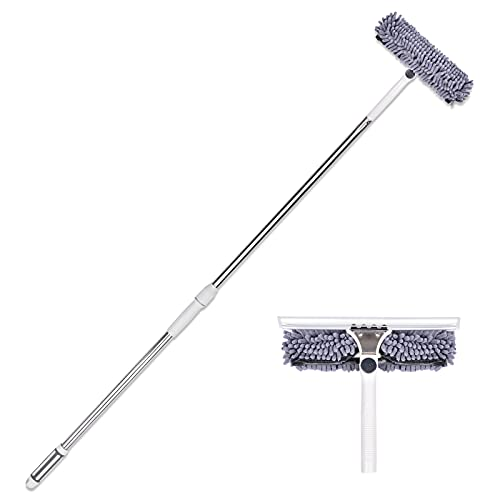 Professional 2 in 1 Window Washing Squeegee Kit, WindowWasherCombowithTelescopicExtensionPole, Suitable for Indoor and Outdoor Window Cleaning (Telescopic, Adjustable, 3-4 Feet Long)