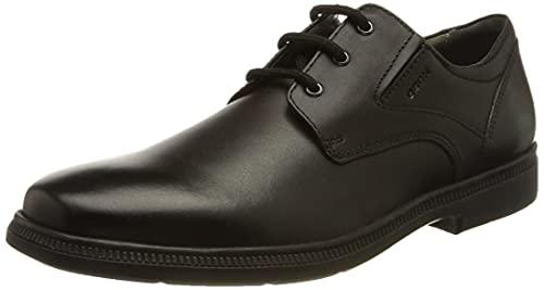 Geox Jr Federico C, School Uniform Shoe Uomo, Nero, 44 EU