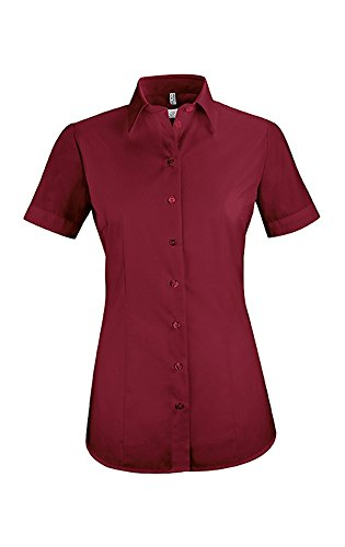 GREIFF Damen-Bluse Basic, Regular Fit, Stretch, Easy-Care, 6516, Bordeaux, Größe 44