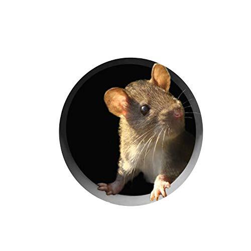 Maus Aufklebe Wandkunst Aufkleber Decal Mice Home Maus Loch Aufkleber Wall Art Sticker Maus Loch Aufkleber Mäuse mit Schlüssel Aufkleber Cartoon niedliche Maus-Löcher Wandaufkleber