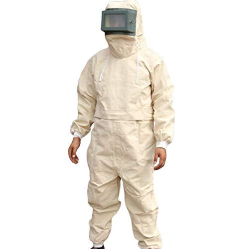 Banese kledingkap, gezandstraald, slijtvast, ademend, bescherming rondom, canvasstijl, gedeelde zandstraalpak voor polijsten, zanden, beschilderen