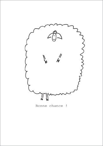 Im 5er Set: Wünschen Sie viel Glück mit einem französischen Schaf: Bonne Chance