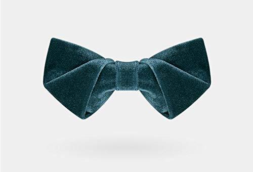 CEKINF Herren Fliege, Krawatte, Rot Lila Grau Kaffee Rosa, Handgemacht, Mit Geschenkbox, Mode Für Hochzeitsfeier Business KleidTiefgrün