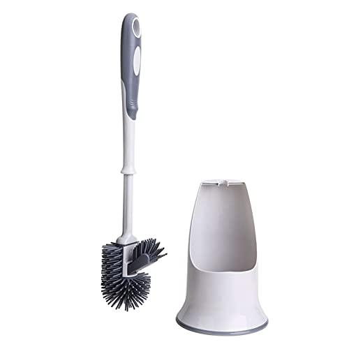 YANGPING HONGHUAER Cepillo de baño y Soporte, Conjunto de cepillos de Limpieza de Taza de Inodoro, Debajo del Cepillo de Labios de Borde y Caddy de Almacenamiento para baño (Color : White)