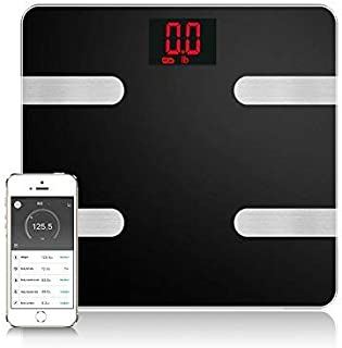 Scales Digital Weight and Body Fat - Smart Wireless Weight Scale - Health Monitor with IOS & Android APP Control for Body Weight/Fat/BMI/BMR/Muscle Mass