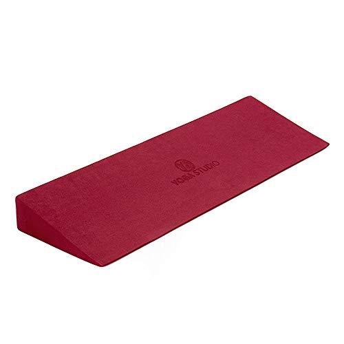 Yoga Studio Cuña de yoga ligera EVA antideslizante – 50 x 15 x 5 cm (frambuesa) ✅