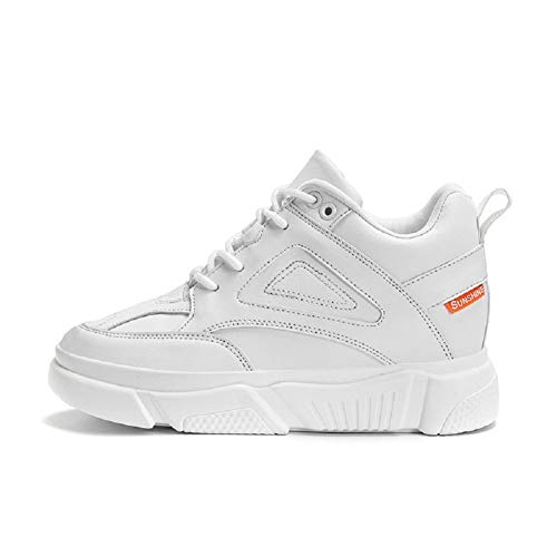 TQGOLD®Zapatillas de Cuña Mujer Zapatos de Deporte Plataforma Deportivas Altas 8CM Sneaker Calzado Deportivo de Exterio